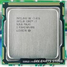 Intel Core I7 870 I7 870 I7 Prozessor 2,9 GHz/8 MB Sockel LGA 1156 CPU Unterstützt speicher: DDR3 1066, DDR3 1333
