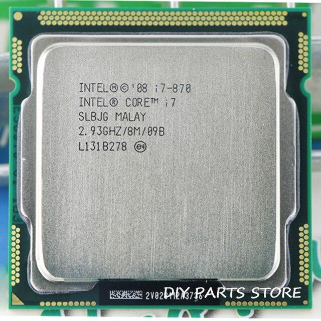 Intel Core I7 870 I7 I7-870 2.9 ГГц/8 МБ Socket 1156 CPU Поддерживается память: DDR3-1066, DDR3-1333