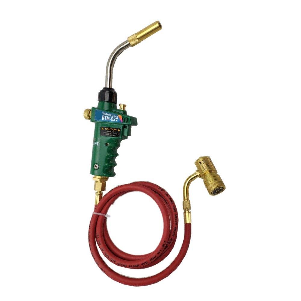 Auto Accensione Brasatura Torcia di Saldatura 1.5 m tubo CGA600 collegamento per Catridge Bombola di Gas Torcia di Saldatura di Calore MAPP Torcia