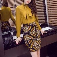 5XL Kobiety Pencil Skirt 2017 Wysokiej Talii Spódnica Urząd Pracy drukuj Kolorowe Kobiety Mini Spódnica Podział Formalne Spódnice kobiety Plus rozmiar