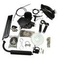 1 компл. 80cc 2 хода цикла черный двигателя глушитель моторизованный велосипед двигатель газ