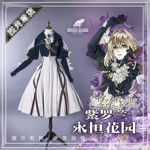 Anime 2018 Mew Cosplay Violet Evergarden Cosplay Costume Women Dress Halloween Hot Violet Evergarden Gothic Cosplay Outfit tokyo mew mew pudding cosplay costume acgcosplay