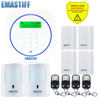 Free Shipping Wireless 10KG Pet Friendly PIR 4PCS Upgrade Door Gap GSM Home Burglar Alarm Safe