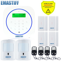 Free Shipping Wireless 10KG Pet Friendly PIR 4PCS Upgrade Door Gap GSM Home Burglar Alarm Safe