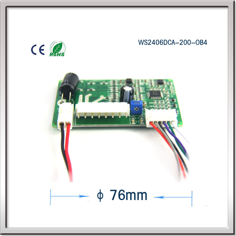 ФОТО Manufacturers selling micro brushless dc motor blower drive PWM speed regulating motor control board WS2406DCA-200-OB4