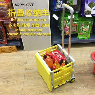Travel Tale Portable Folding Trolley Shopping Cart Grocery Shopping Cart Car Storage Box Luggage Spinner Brand Travel Suitcase