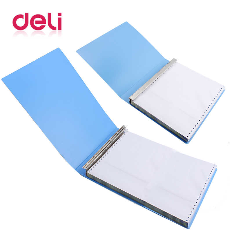 Deli 1pcs 22 hole file folder pin computer printing paper folder Office supplies 30 pages binder punching clip CB108