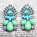 Star Jewelry Wholesale For Women 2015 New Design Fashion Accessories Cute Colorful Acrylic Stud Earrings Christmas Gift Hot