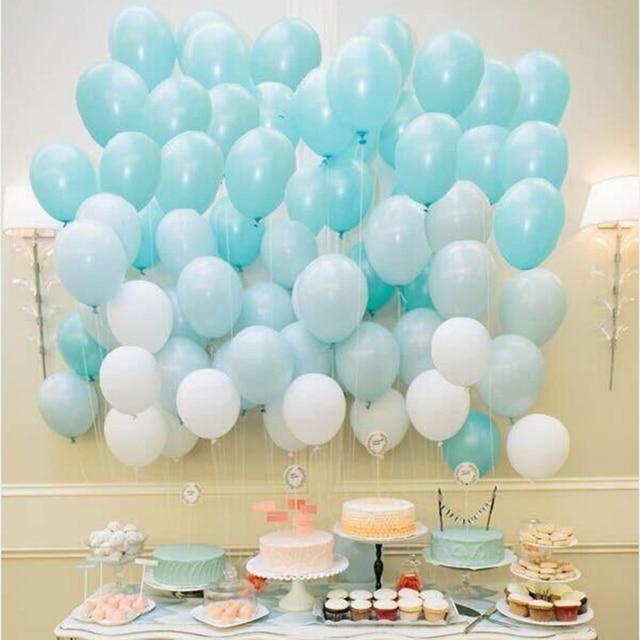 Tiffany Blue Balloons 10pc 10 Inch Thick 2 G Birthday Ballons Decorations Wedding Sea Foam