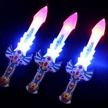 Светоизлучающих мечи воин мигает броня меч музыка световой пластиковые детей игрушки