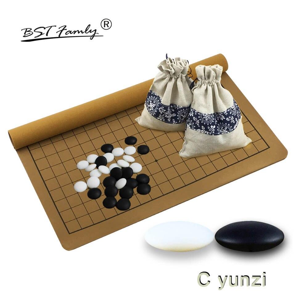 Aller Jeu Un B C D Yunzi Wei Qi Pierres Haute Qualité Aller Jeu d'échecs 361 pièces Pour 19 Route PU En Cuir conseil Chinois Vieux Jeu G29
