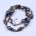 Diseño de moda Clásico Cristal y concha Collar de perlas con Accesorios de La Joyería de Las Mujeres Collar y Cadena de cristal para los regalos de la mujer