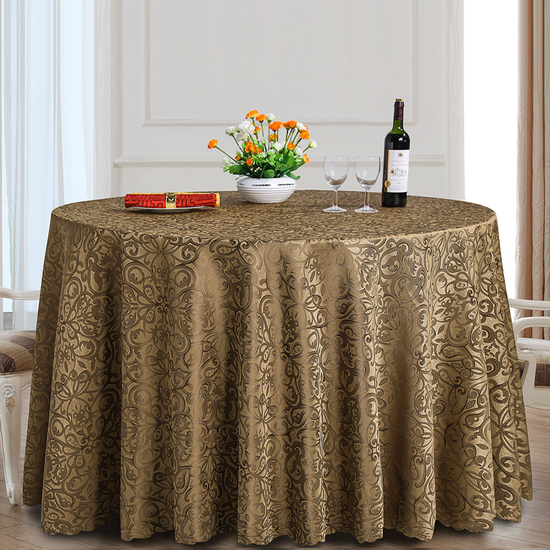 Classique Jacquard Table Ronde Tissu Polyester Tissu Carré Salle ...