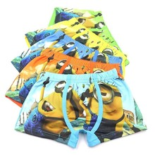 5 Pcs/lot Boy Underwear Childrens Cartoon Boxer Cotton Panties Kids Short Briefs Children Panty Baby Girl Clothes