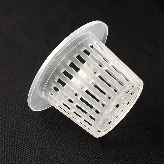 6pcs 110*78.5*70mm Mesh Pot Net Cup Vegetable Grow Basket Aquaponics Cup Hydroponic Pot Aeroponic Basket Green Thumb