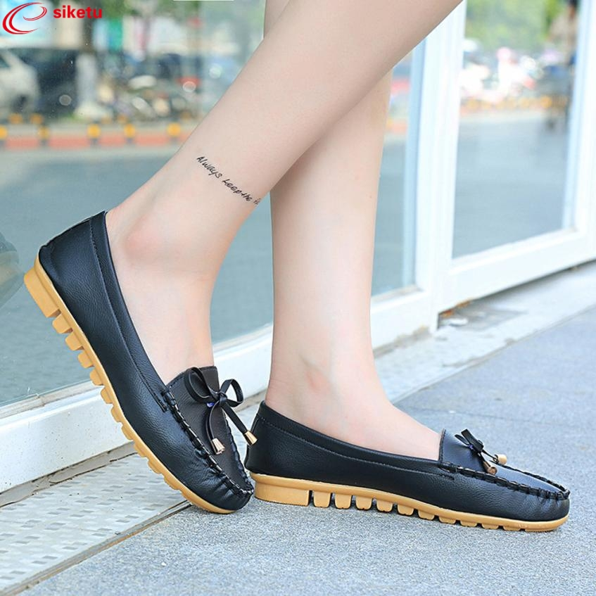 Charming Nice siketu Women Flats Shoes Slip On Comfort Shoes Flat Shoes Loafers Best Gift Y30 charming nice siketu best gift baby flats tassel soft sole cow leather shoes infant boy girl flats toddler moccasin y30