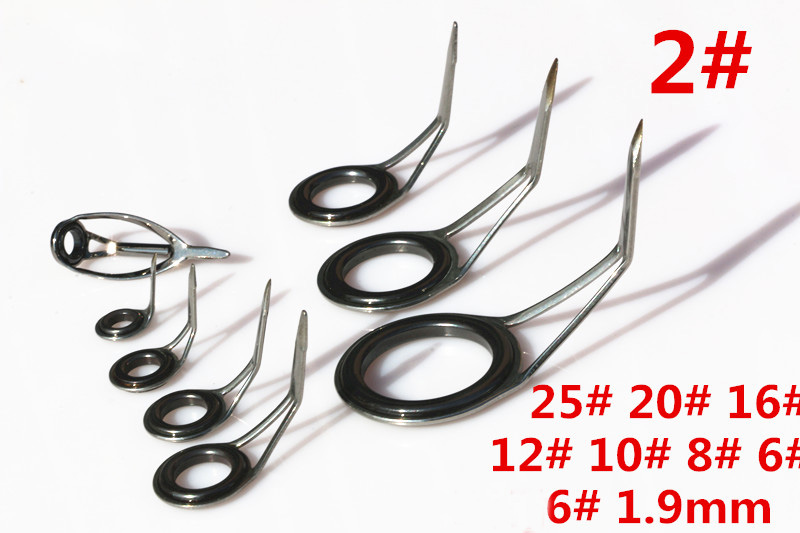 9 10pcs kit DIY Spinning Rod Guides Combo updated enhanced version outlet stainless steel bracket DIY Rod guide ring accessory in Fishing Tools from Sports Entertainment