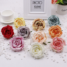50pcs/lot Fashion roses flower heads creative silk flowers DIY artificial wedding romantic background wall