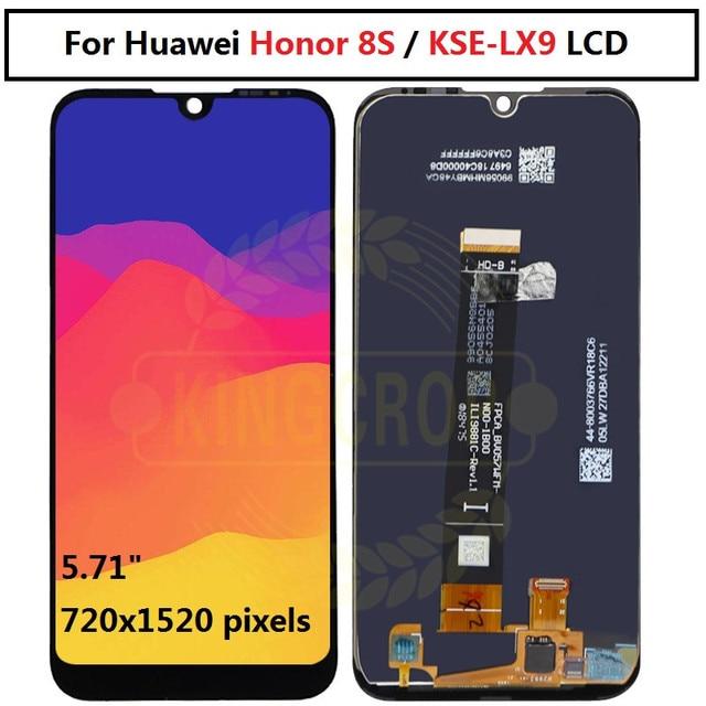 Per Huawei Honor 8S Display LCD e Touch Screen Digitizer Assembly per Huawei Honor 8S KSE LX9 sostituzione dello schermo