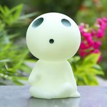 DIY Miyazaki Hayao Princess Mononoke Kodama Tree Spirit PVC Action Figures Toys Collection Model Toy Cute Piggy Bank Money Box