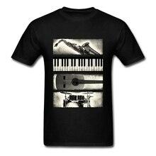 Vintage Geek Acoustic Guitar T Shirt Men's Short Sleeve Cotton Custom Love Music Guitar Tee Shirts Hip Hop T-shirt