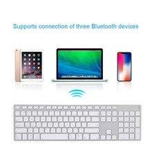 Алюминиевый сплав Беспроводная Bluetooth 3,0 клавиатура для планшета, ноутбука, телефона, поддержка системы iOS Windows ND998