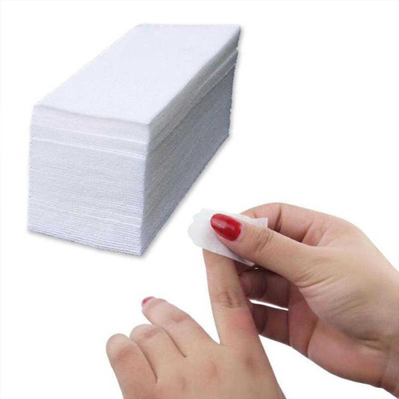 20 шт безворсовый Гель-лак для нейл-арта для удаления ватных дисков салфетки для ногтей инструмент (Цвет: Белый)
