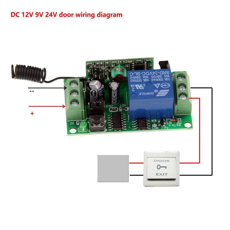 Image 4 - 2019 nowy 500 m DC 9 V 12 V 24 V 1 CH 1CH przełącznik bezprzewodowego pilota zdalnego sterowania systemu, 4CH nadajnik + odbiornik, Jog/Self lockPrzełączniki   -