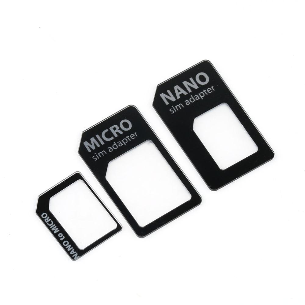 10pcs/lot SIM MICROSIM Adaptor Adapter 3 in 1 for Nano SIM to Micro Standard for Apple for iPhone 5 5g 5th ...