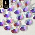 Castillo de cristal 6A mejor 2078 blanco claro AB Strass Hotfix Diamante de imitación para ropa y 2088 NO CALIENTE arreglar Flatback diamantes de imitación para uñas