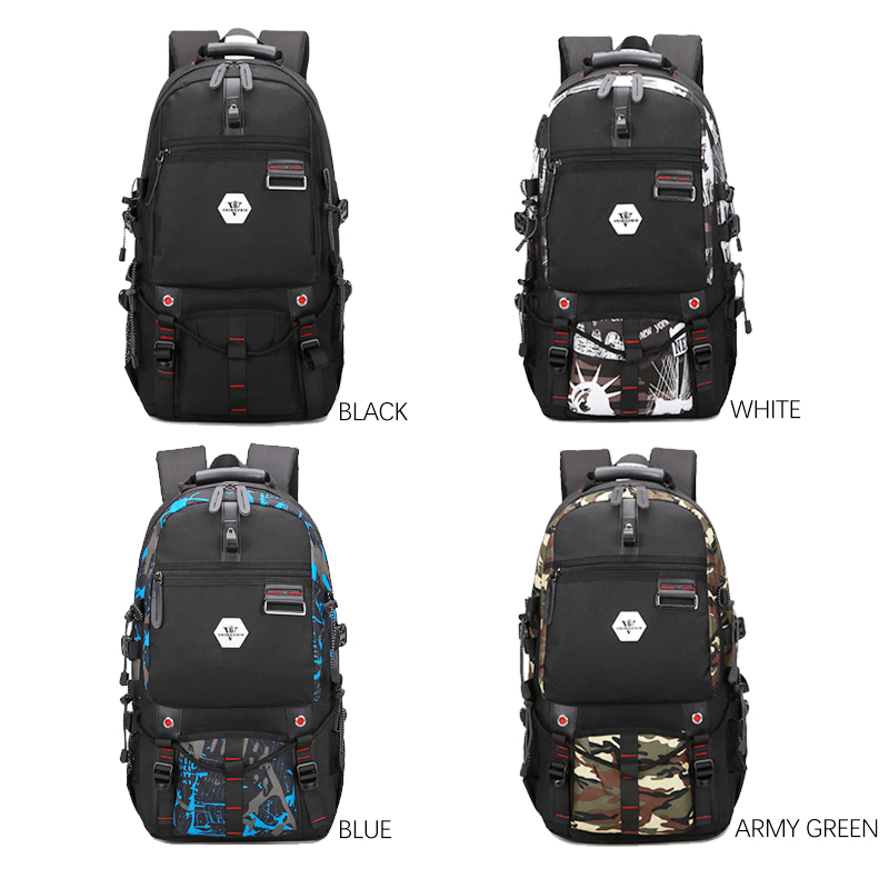 Vkingvsix Usb Waterproof Backpack Women Men 15.6 Inch Laptop Backpacks Travel Teen School Bags Boys Back Pack Mochila Bagback #2