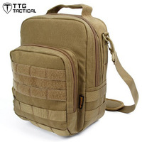 Army MOLLE Cross Body Bag 1050D Nylon Adjustable Camouflage Shoulder Package Shockproof Combat IPAD Bag