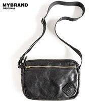 MYBRANDORIGINAL messenger bag men cow leather bag men vintage genuine leather shoulder bag leather fashion crossbody bag b145