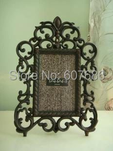 6 Inch Decorative Wrought Iron Picture Frame Photo Art Cast Frames Nature Collection