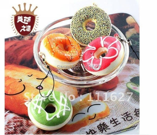 20pcs/lot Free Shipping,Small Sweet Circle Key Rings Squishy Mobile Phone Straps Cell Phone Key Chain Wholesale Price #0001