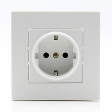 Power-Wall-Socket Eu-Standard 16A Plastic White AC 110--250v New-Arrival
