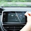 GPS Real Cortina de Pantalla Protector de Pantalla Táctil Película Protectora Caso Pegatina para 2014 2015 2016 Peugeot 2008 Accesorios
