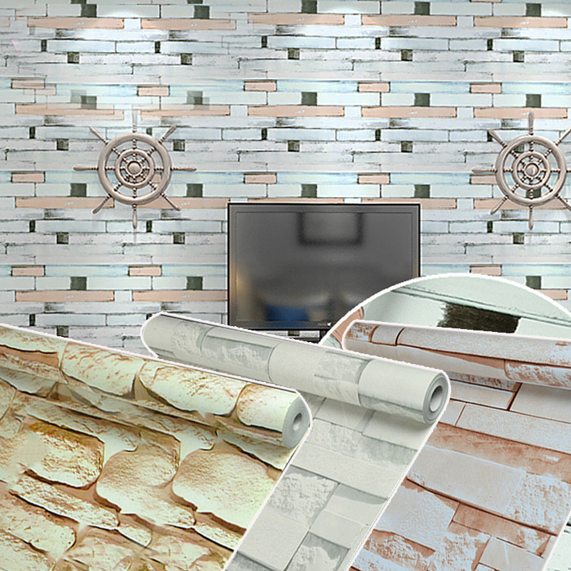 Stone Vintage Vinyl Self Adhesive Wallpaper Rolls Modern Wall Papers Home Decor Living Room