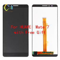 LCD Digitizer Assembly For Huawei Mate7 Touch Screen Digitizer with Frame Panel Assembly replacement 6.0 inch celular