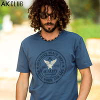 AK CLUB Brand T Shirt Printed Classic Five Star Wing Print Tshirt Short Sleeve T Shirt