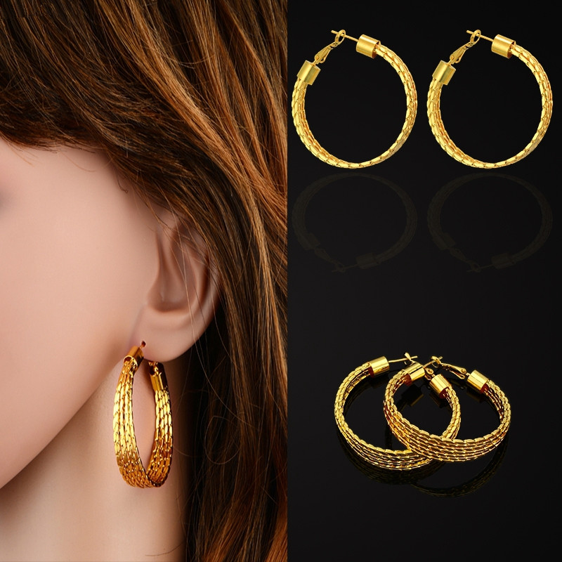 Big Round Basketball Wives Hoop Earrings For Women Girls Brand New Trendy Gold Color Vintage Jewelry Brinco EH321