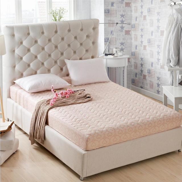 Superieur SunnyRain Polyester Thick Mattress Protector Quilted Bed Sheet Queen Size  Fitted Bed Sheet Mattress Cover Pocket