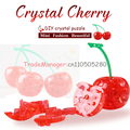 3d puzzle assembled three-dimensional crystal pendant plastic building  for children's educational toys fruit cherries