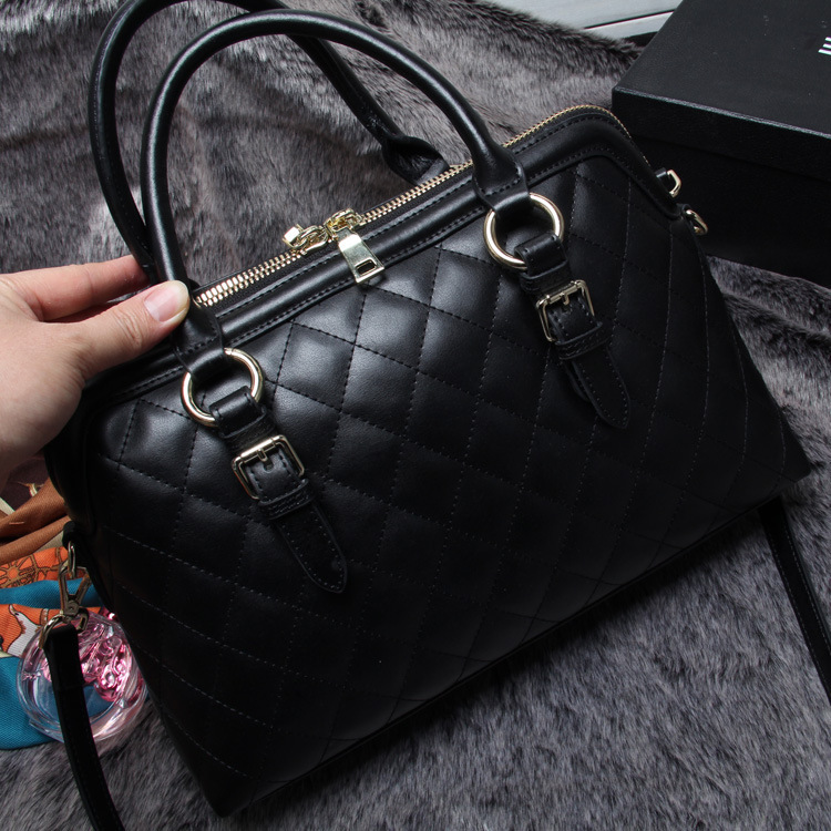 2015 Fashion Women Cowhide Leather Shell Bag Genuine Leather Message Bags New Handbag Women Shoulder Bag Diamond Lattice Bag