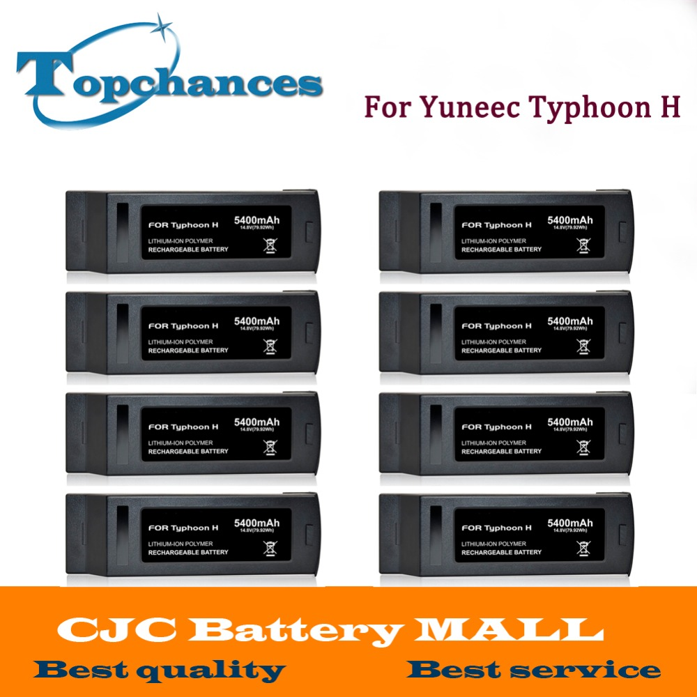 Wholesale 8PCS High Quality 4S Full 5400mAh 14.8V 79.92Wh Replacement LiPo Battery for Yuneec Typhoon H Drone RC Quadcopter yuneec typhoon h rtf black grey гексакоптер