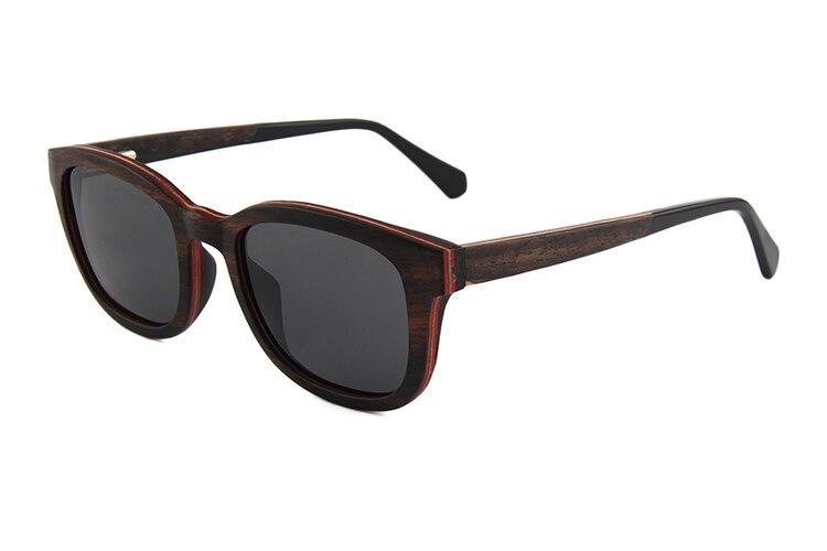 OKULARY marque lunettes de soleil en bois polarisées hommes femmes à la main en bois cadre lunettes de soleil en bois Premium naturel plaine miroir lunettes