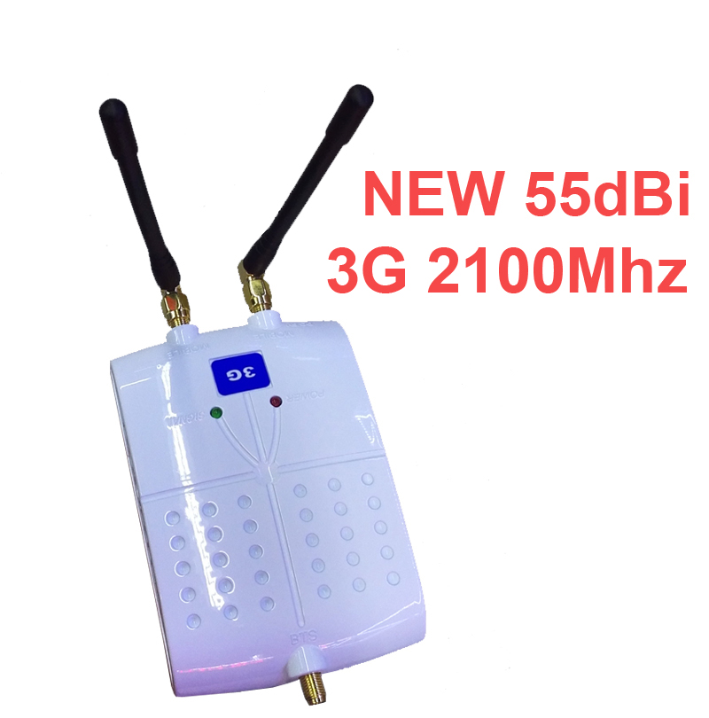 new model 55dbi 3g WCDMA booster with anteanna 3G repeater signal enlarger mobile phone signal enlarger