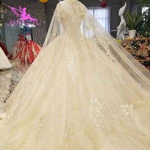Image 4 - Aijingyu 새로운 웨딩 드레스 결혼 착용 가운 신부 디자이너 최신 vintages 간단하고 가운 소녀 웨딩 드레스