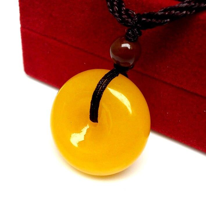 Из натуральной Дракон Ожерелье Желтый безопасной пряжкой обувь для мужчин и женщин любитель ювелирных изделий нефриты ювелирные изделия
