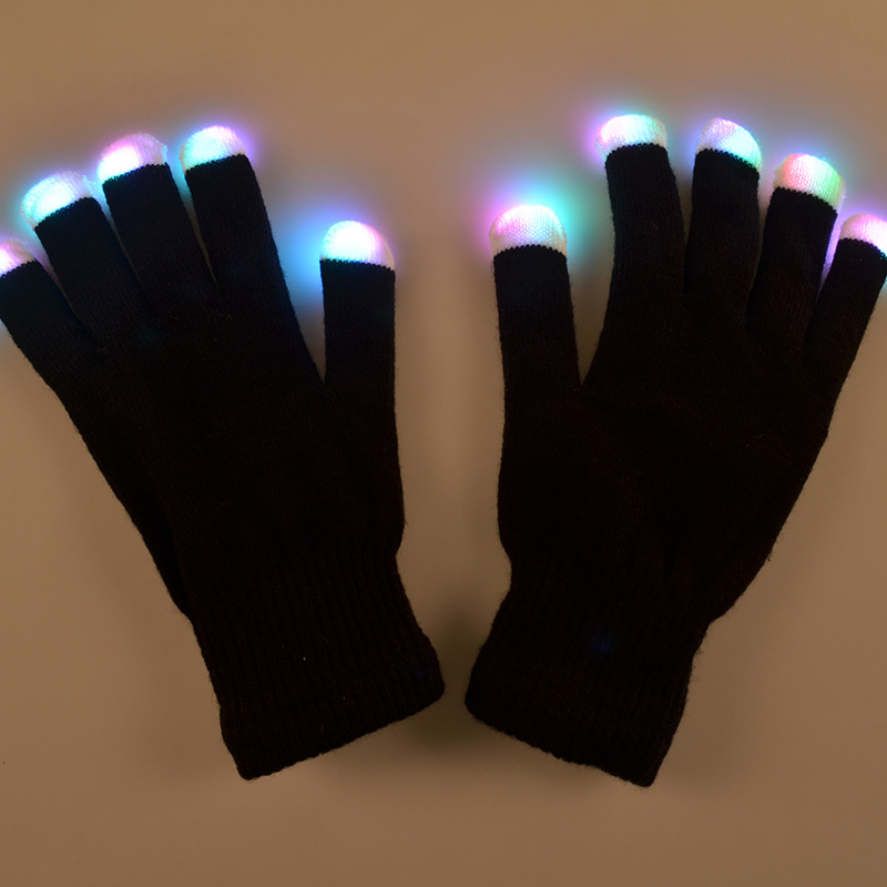 Funny Led Glove Toys Suitable For Christmas Festival Parties Gifts Colorful Glowing Gloves Novelty Toy For Kids Or Adults